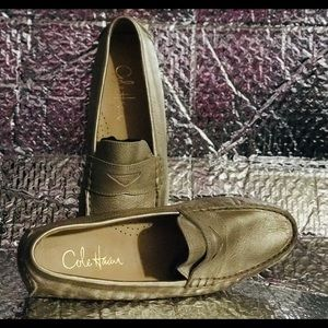 Cole Haan Gold Loafers